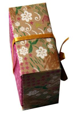 Kathrins Papier - Faltschachtel mit Satinband