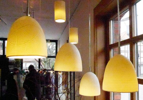 Porzellanlampenschirme von Eva Koj