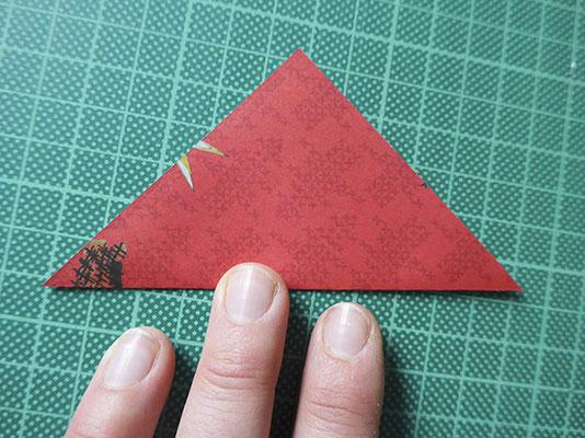 diagonal falten, wenden, diagonal falten