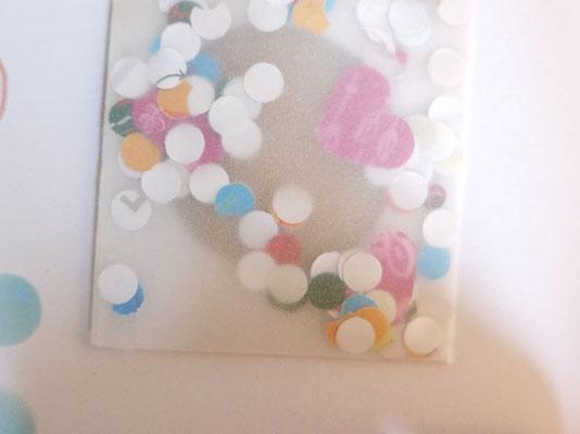 konfetti einfüllen