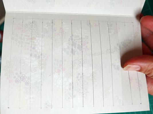 papier streifen weben, anzeichnen