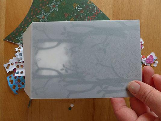 Postkarte mit transparenter Tasche