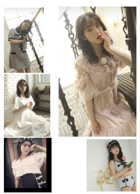 SWANKISS 2021 S/S  (model)中野恵那  ヘアメイク高野雄一