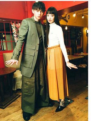 ANSWERS by fashion TV(BSフジ) ハリー杉山、萬波ユカ(2016ミラノコレクション『フェンディ』モデル)ヘアメイク高野雄一、山本有輝
