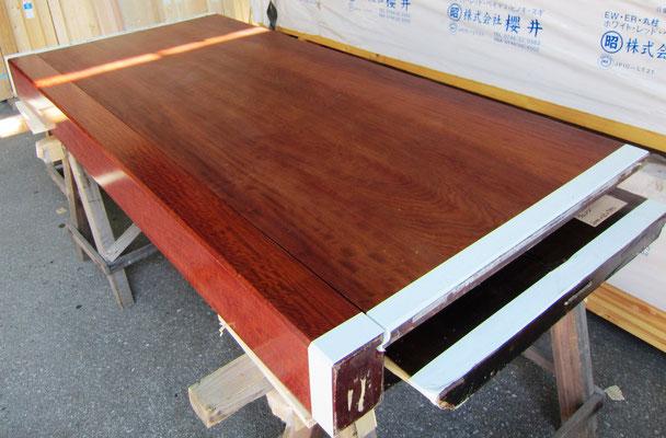 本花梨 無垢 床框 床板セット 1900㎜