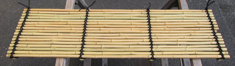 晒竹簀子 棕櫚縄網