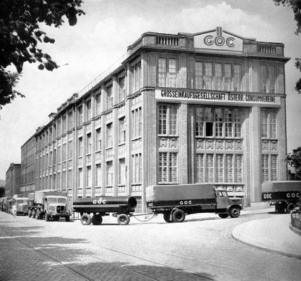 Hauptgebäuder der Textilabteilung der GöC in 1140 Wien