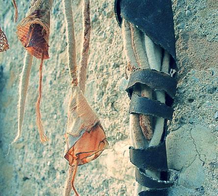 Metal sculpture, textile,  Vanorbeek-Magnin