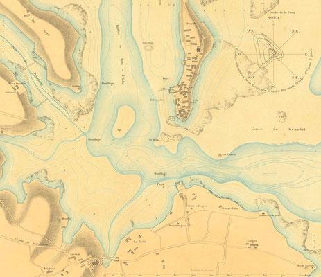 Carte Loctudy - L'Ile Tudy 1879