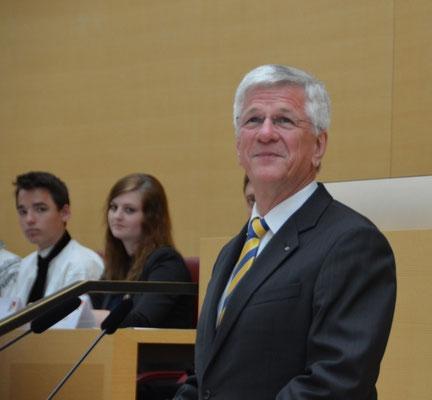 Herr Christian Knauer, Vizepräsident BdV spricht das Schlußwort.