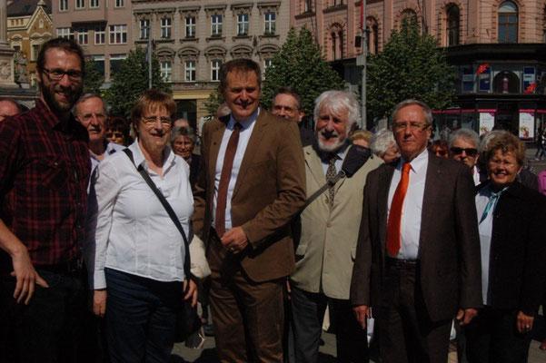 Begegnung mit dem OB von Schwäbisch Gmünd, Richard Arnold beim Stadtrundgang