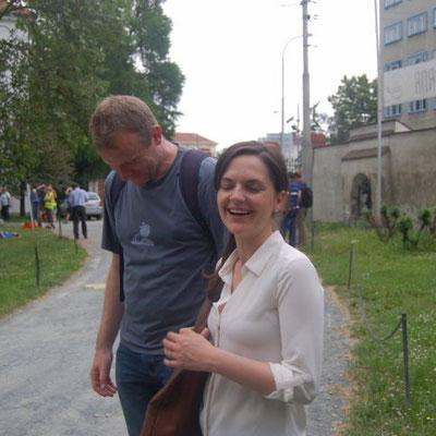 Dr. David Kovařík mit Dr. Sandra Kreisslová