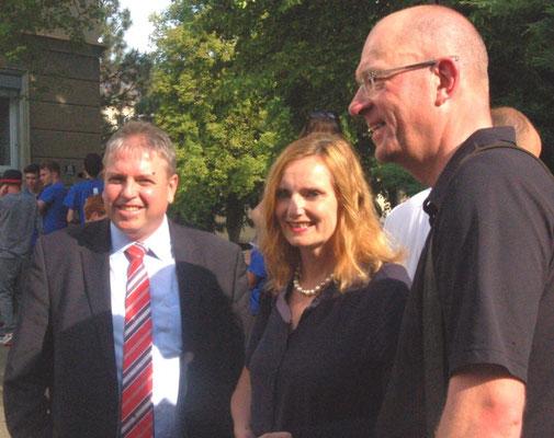 Dr. Frederic Stephan und Frau Bürgermeisterin Isabel Fezer, Stuttgart, Bürgermeister Julius Mihm Schwäbisch Gmünd