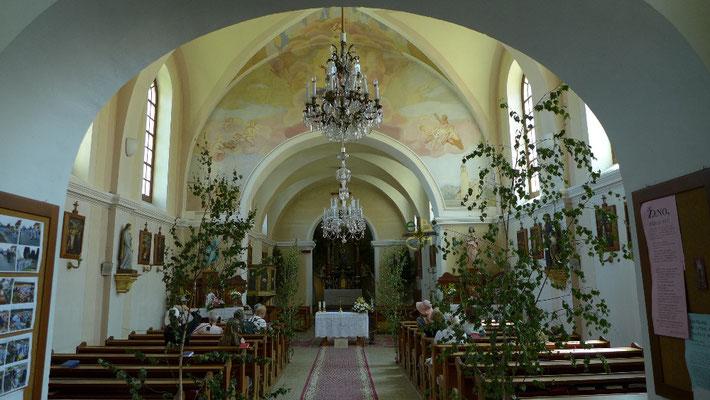 Das Innere der Tiefmaispitzer Wallfahrtskirche