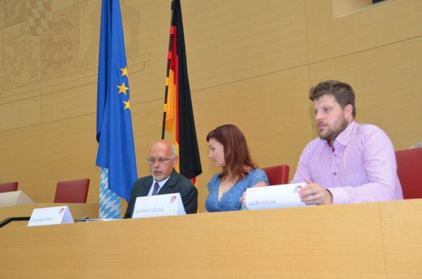 Dr. Mojmír Jeřábek, Dr. Kateřina Tučková, Matěj Hollan. Vizebürgermeister Brünn