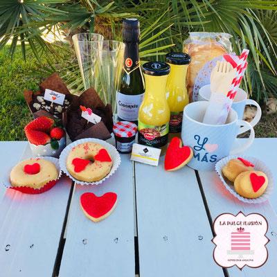 desayuno san valentin para dos personas. Desayuno romantico a domicilio en cartagena, murcia