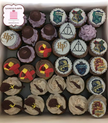 Cupcakes Harry Potter en Cartagena, Murcia. Sabor chocolate. cupcakes en Cartagena, Murcia.