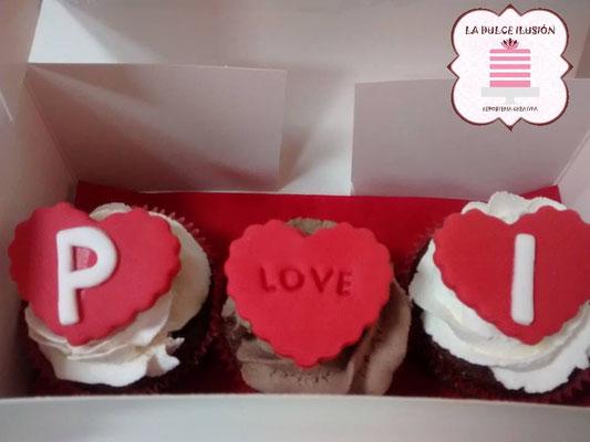 cupcakes de san valentin. cupcakes de enamorados en cartagena, murcia