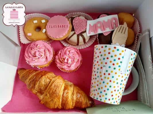 Desayuno a domicilio para el día de la madre. Desayuno sorpresa para mama en Murcia y Cartagena. Desayunos La dulce ilusión
