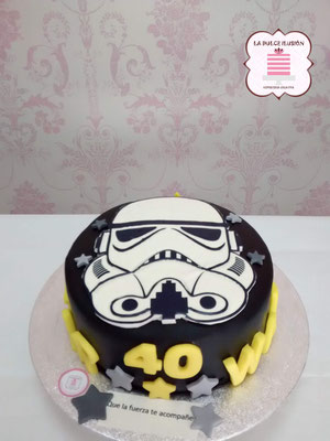 Tartas de fondant star wars. Tarta de cumpleaños star wars