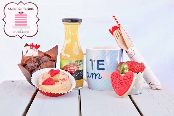 desayuno enamorados de san valentin. Desayuno romantico a domicilio san valentin en cartagena, murcia