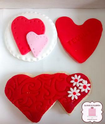 galletas decoradas especial san valentin, repostería día de los enamorados