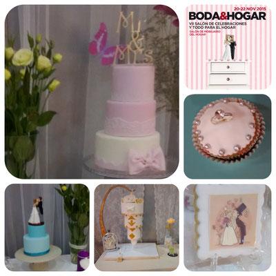 Mesa dulce de boda en Cartagena. Candy bar boda en Cartagena. Tarta de boda, tarta 3D, tarta tres pisos, tarta invertida, galletas decoradas. La dulce ilsuion