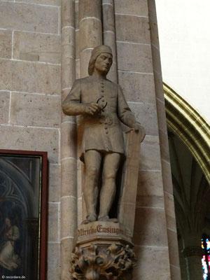 Figur Ulrich von Ensingen - Baumeister des Ulmer Münsters