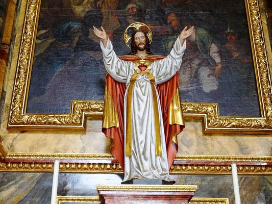 Jesusfigur von 1900 am Rosenkranzaltar
