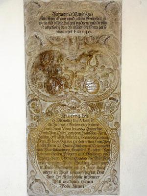 Epitaph von 1679