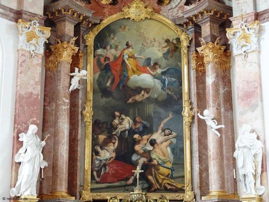 Hauptaltargemälde, Hl. Anastasia als Helferin, Kloster Benediktbeuern