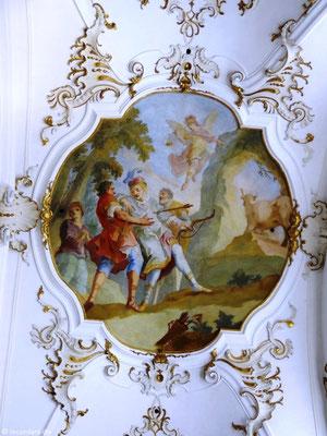 """Deckengemälde """"Erzengel Michael rettet einen von Jägern verfolgten Stier"""""""