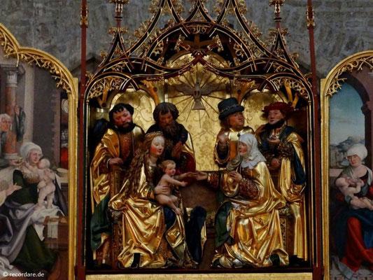 Choraltar zeigt die Familie Mariens