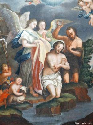 "Altarbild ""Johannes tauft Jesus"""