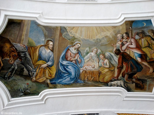 """Deckenfresko """"Geburt Jesu"""""""
