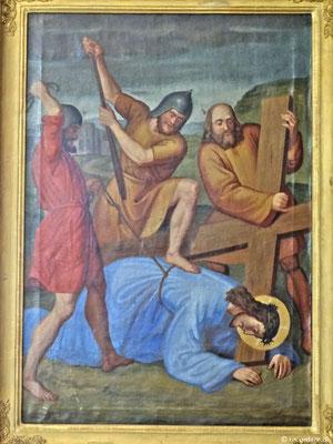 """Kreuzwegmotiv """"Jesus fällt zum 3. Mal unter dem Kreuz"""""""