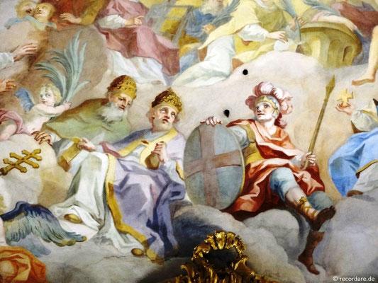 Auszug Deckenfresko: Papst Gregor der Große und Papst Leo IX.