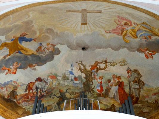 Fürbittgemälde - Hl. Josef bringt die Anliegen der Menschen der Region vor Gott