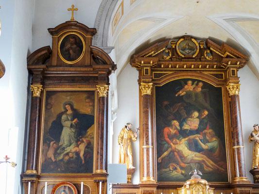 Hochaltar und Immaculata Seitenaltar