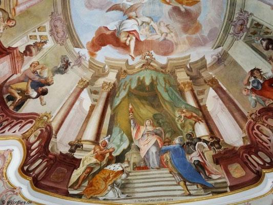 Ecclesia mit den vier Erdteilen