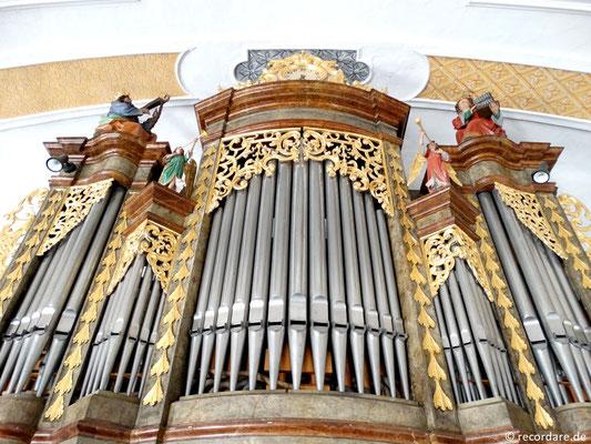 Orgelgehäuse eines unbekannten Meisters mit Figuren David und Cäcilia