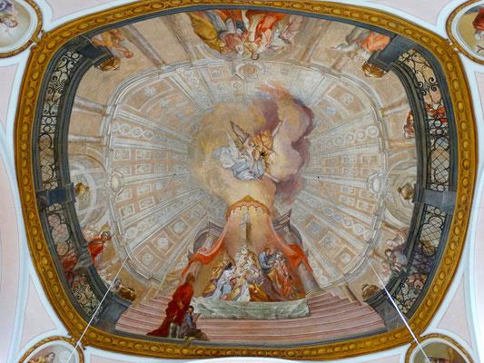 """Kuppelgemälde """"Vermählung von Maria und Josef"""""""