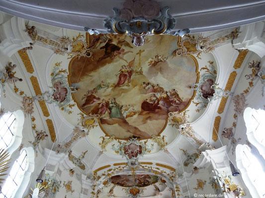 Deckenfresko, gemalt von Balthasar Riepp