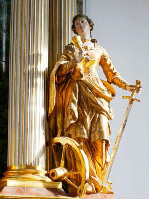 Altarfigur Hl. Katharina