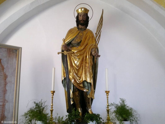 Hl. Kastulus, Statue in der Ursula-Kapelle