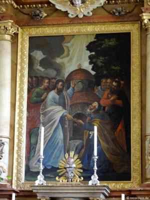 """Hochaltargemälde """"Schlüsselübergabe Jesu an Petrus"""""""