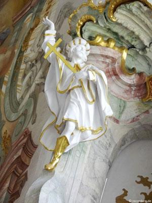 Allegorie für Christentum - Mann mit Turban und Kreuz