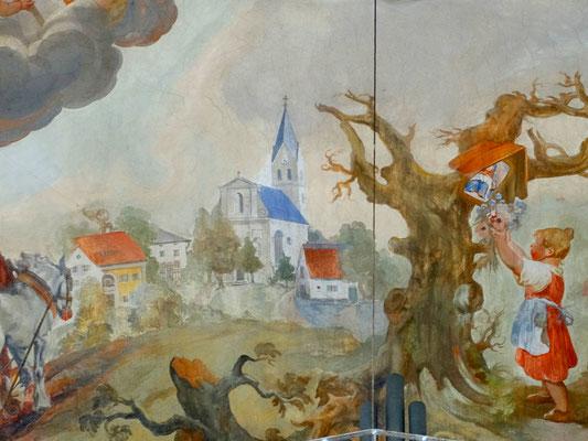 Allershausener St. Josef Kirche im Fürbittgemälde