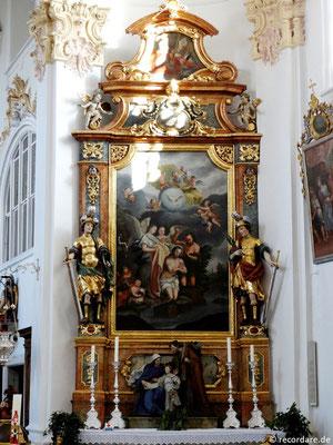 Rechter Seitenaltar Johannes der Täufer