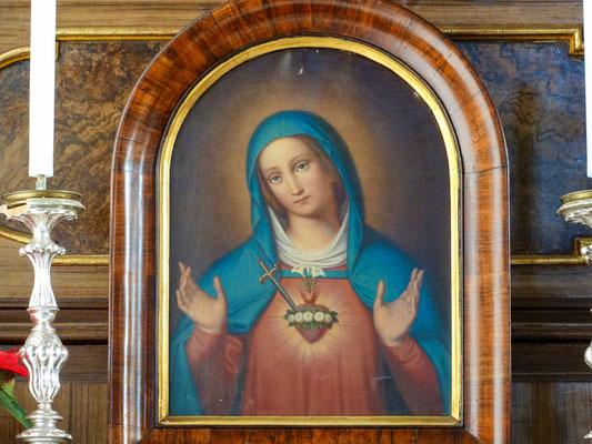 Marienbildnis Immaculata Seitenaltar